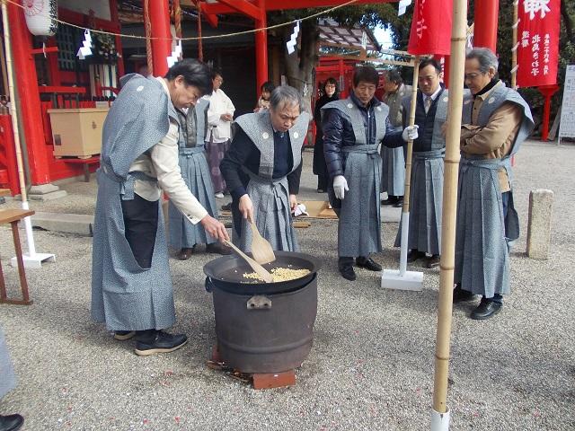 豆煎り神事2
